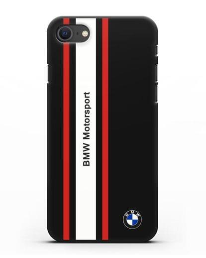 Чехол BMW Motorsport силикон черный для iPhone SE 2020