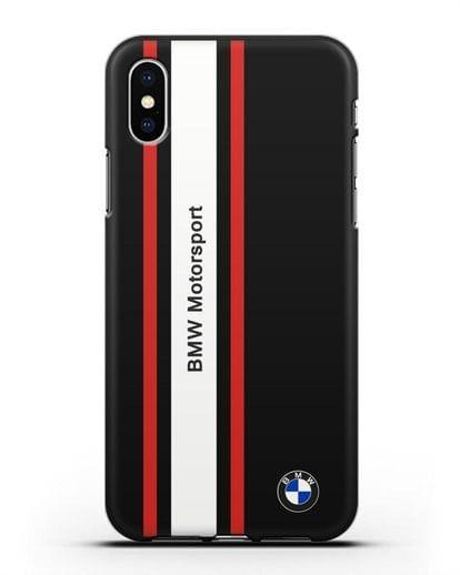 Чехол BMW Motorsport силикон черный для iPhone X