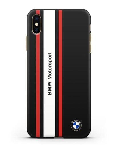 Чехол BMW Motorsport силикон черный для iPhone XS Max