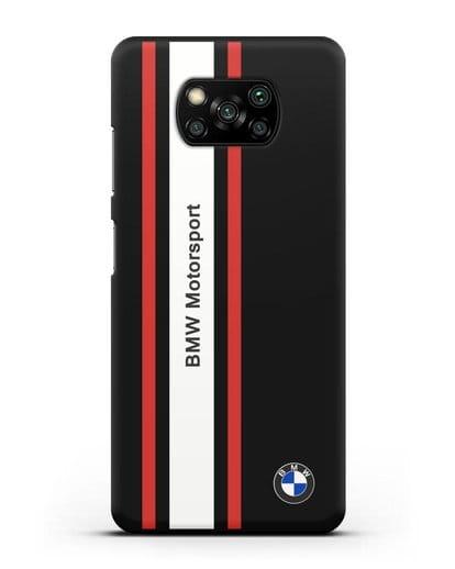 Чехол BMW Motorsport силикон черный для Xiaomi Poco X3