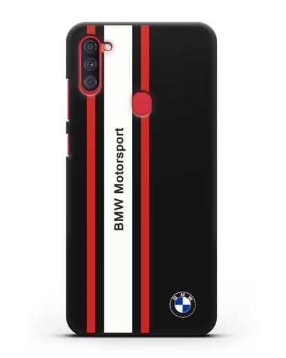Чехол BMW Motorsport силикон черный для Samsung Galaxy A11 [SM-A115F]