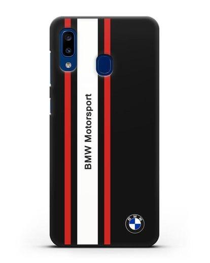 Чехол BMW Motorsport силикон черный для Samsung Galaxy A20 [SM-A205FN]
