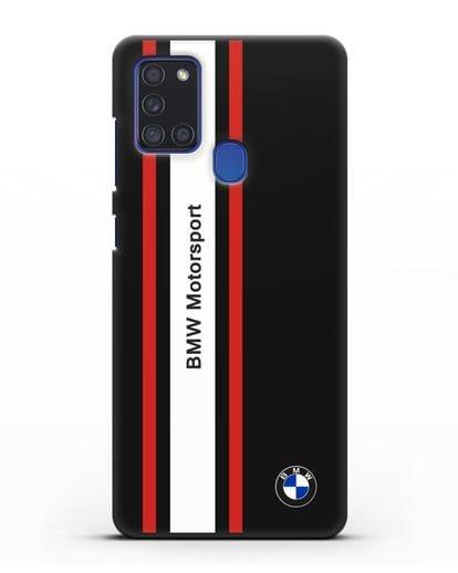 Чехол BMW Motorsport силикон черный для Samsung Galaxy A21s [SM-A217F]