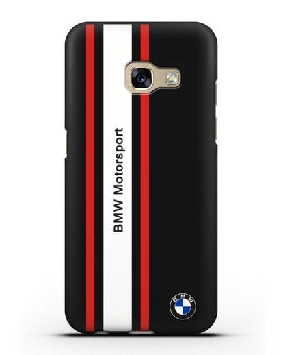 Чехол BMW Motorsport силикон черный для Samsung Galaxy A3 2017 [SM-A320F]