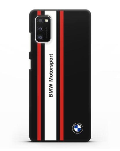 Чехол BMW Motorsport силикон черный для Samsung Galaxy A41 [SM-A415F]