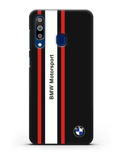 Чехол BMW Motorsport силикон черный для Samsung Galaxy A60 [SM-A606F]