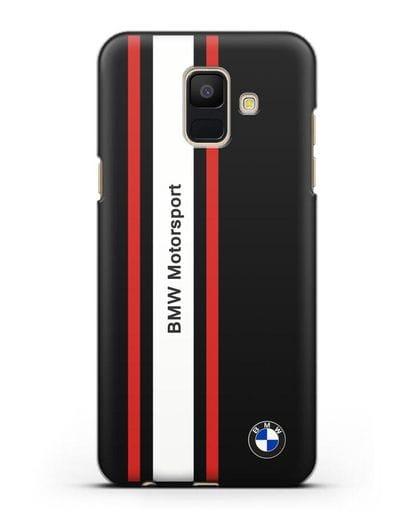 Чехол BMW Motorsport силикон черный для Samsung Galaxy A6 2018 [SM-A600F]