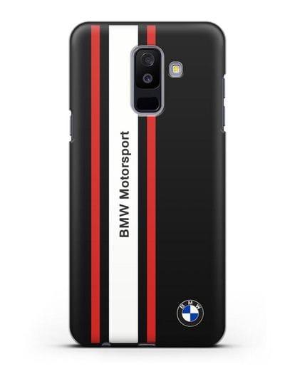 Чехол BMW Motorsport силикон черный для Samsung Galaxy A6 Plus 2018 [SM-A605F]