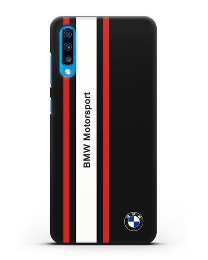 Чехол BMW Motorsport силикон черный для Samsung Galaxy A70 [SM-A705F]