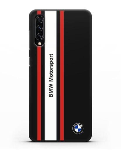 Чехол BMW Motorsport силикон черный для Samsung Galaxy A70s [SM-A707F]