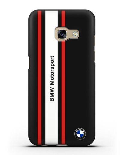 Чехол BMW Motorsport силикон черный для Samsung Galaxy A7 2017 [SM-A720F]