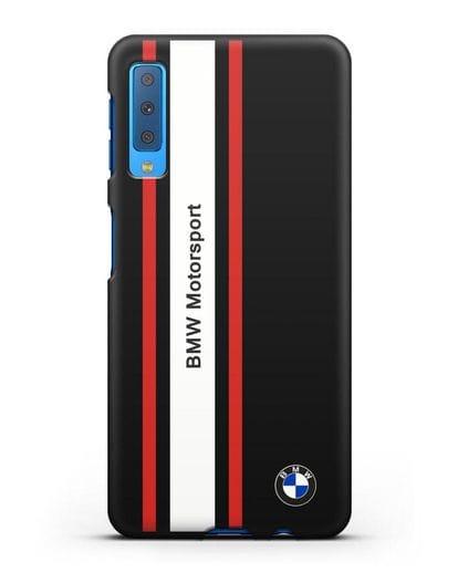 Чехол BMW Motorsport силикон черный для Samsung Galaxy A7 2018 [SM-A750F]