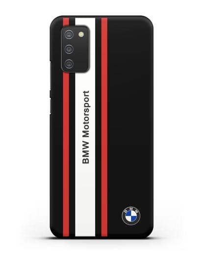 Чехол BMW Motorsport силикон черный для Samsung Galaxy A02s [SM-A025F]