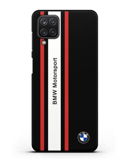 Чехол BMW Motorsport силикон черный для Samsung Galaxy A12 [SM-A125F]