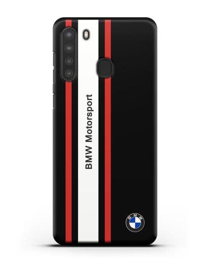 Чехол BMW Motorsport силикон черный для Samsung Galaxy A21 [SM-A215]