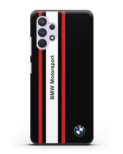 Чехол BMW Motorsport силикон черный для Samsung Galaxy A32 5G [SM-A326B]