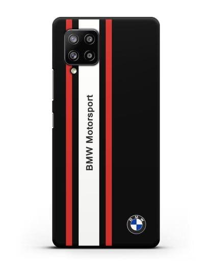 Чехол BMW Motorsport силикон черный для Samsung Galaxy A42 [SM-A426B]