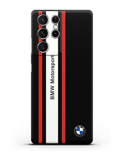 Чехол BMW Motorsport силикон черный для Samsung Galaxy S21 Ultra [SM-G998B]