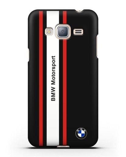 Чехол BMW Motorsport силикон черный для Samsung Galaxy J3 2016 [SM-J320F]