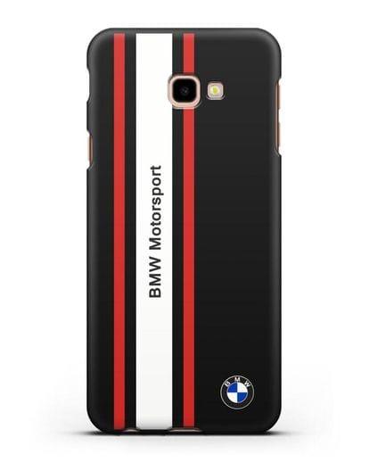 Чехол BMW Motorsport силикон черный для Samsung Galaxy J4 Plus [SM-J415]