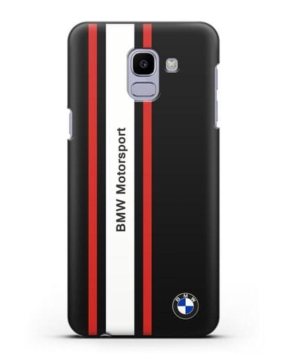 Чехол BMW Motorsport силикон черный для Samsung Galaxy J6 2018 [SM-J600F]