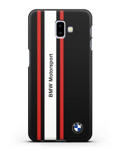 Чехол BMW Motorsport силикон черный для Samsung Galaxy J6 Plus [SM-J610F]