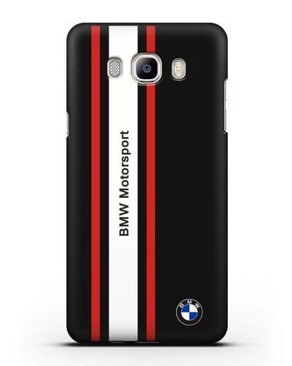 Чехол BMW Motorsport силикон черный для Samsung Galaxy J7 2016 [SM-J710F]