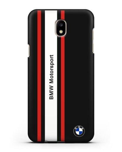 Чехол BMW Motorsport силикон черный для Samsung Galaxy J7 2017 [SM-J720F]