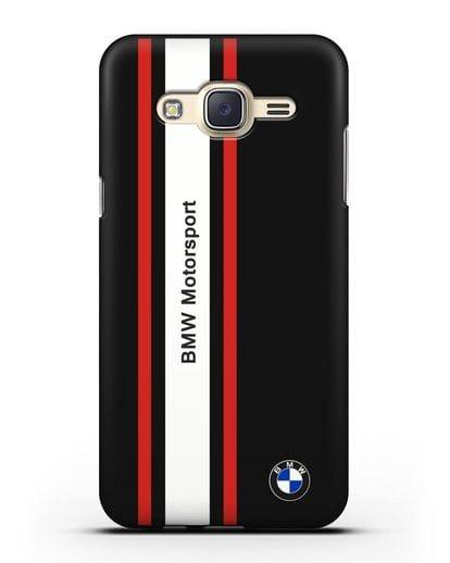 Чехол BMW Motorsport силикон черный для Samsung Galaxy J7 Neo [SM-J701F]