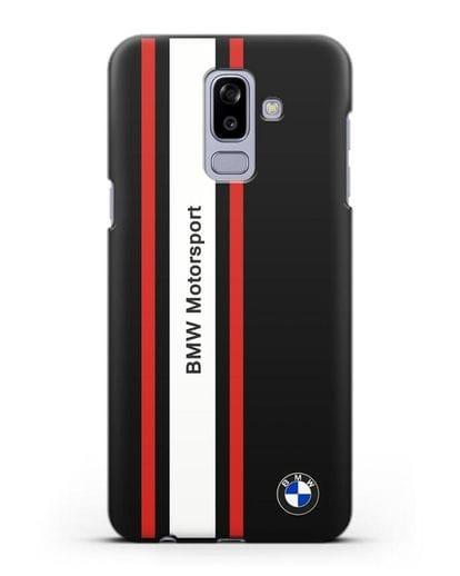 Чехол BMW Motorsport силикон черный для Samsung Galaxy J8 2018 [SM-J810F]