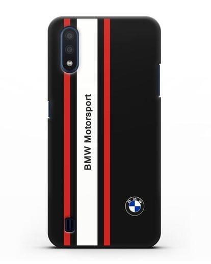 Чехол BMW Motorsport силикон черный для Samsung Galaxy M01 [SM-M015F]