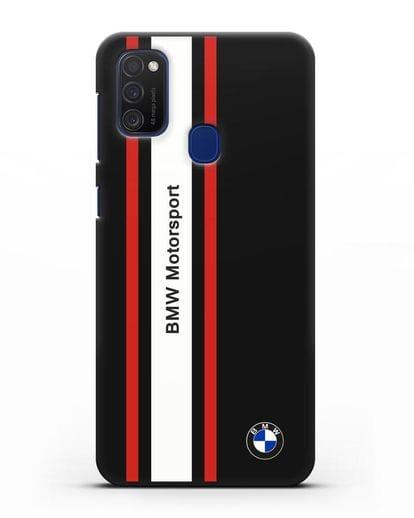 Чехол BMW Motorsport силикон черный для Samsung Galaxy M21 [SM-M215F]