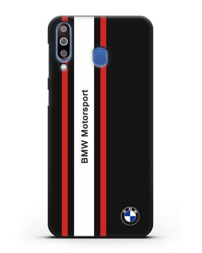 Чехол BMW Motorsport силикон черный для Samsung Galaxy M30 [SM-M305F]