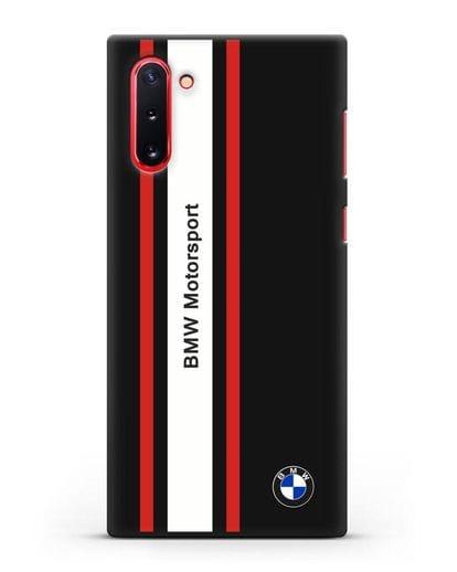 Чехол BMW Motorsport силикон черный для Samsung Galaxy Note 10 [N970F]