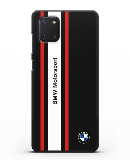 Чехол BMW Motorsport силикон черный для Samsung Galaxy Note 10 Lite [N770F]