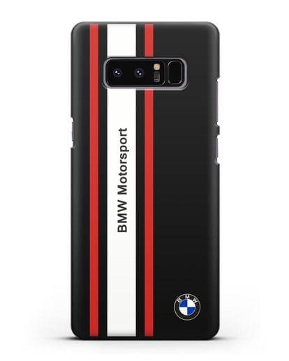 Чехол BMW Motorsport силикон черный для Samsung Galaxy Note 8 [N950F]