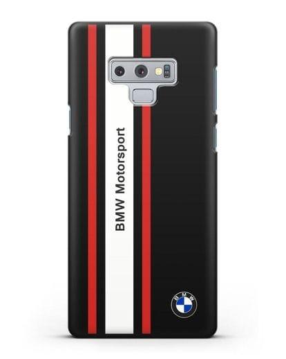 Чехол BMW Motorsport силикон черный для Samsung Galaxy Note 9 [N960F]