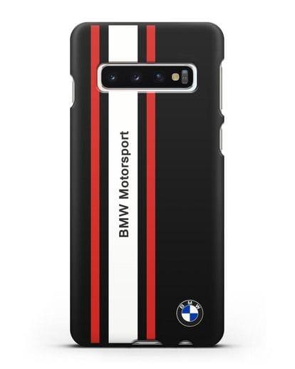 Чехол BMW Motorsport силикон черный для Samsung Galaxy S10 Plus [SM-G975F]