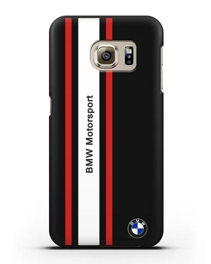 Чехол BMW Motorsport силикон черный для Samsung Galaxy S6 Edge [SM-G925F]