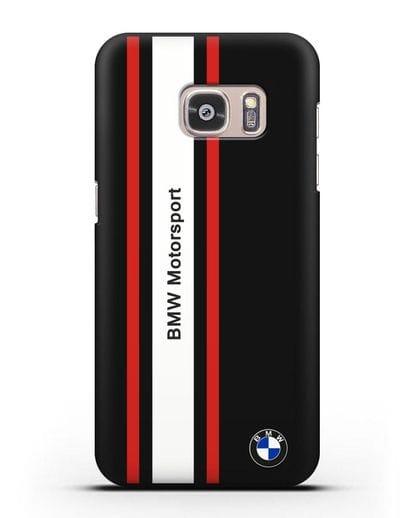 Чехол BMW Motorsport силикон черный для Samsung Galaxy S7 Edge [SM-G935F]