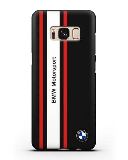 Чехол BMW Motorsport силикон черный для Samsung Galaxy S8 Plus [SM-G955F]