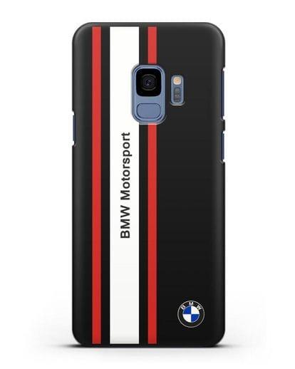 Чехол BMW Motorsport силикон черный для Samsung Galaxy S9 [SM-G960F]