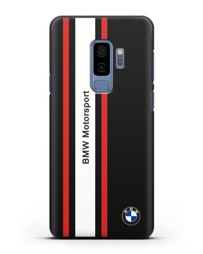 Чехол BMW Motorsport силикон черный для Samsung Galaxy S9 Plus [SM-G965F]