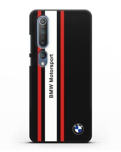 Чехол BMW Motorsport силикон черный для Xiaomi Mi 10 Pro