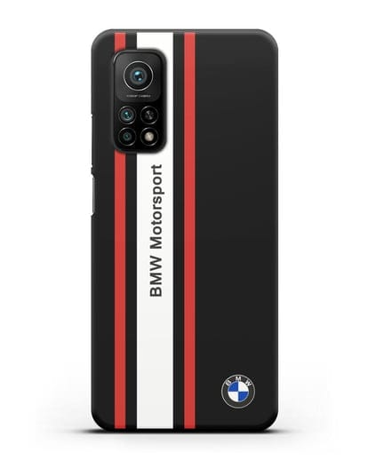 Чехол BMW Motorsport силикон черный для Xiaomi Mi 10T