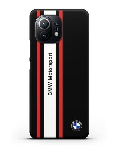 Чехол BMW Motorsport силикон черный для Xiaomi Mi 11