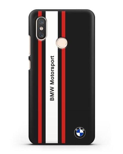 Чехол BMW Motorsport силикон черный для Xiaomi Mi 8