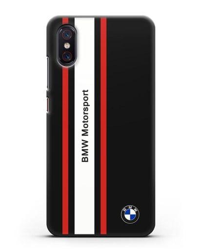 Чехол BMW Motorsport силикон черный для Xiaomi Mi 8 Pro