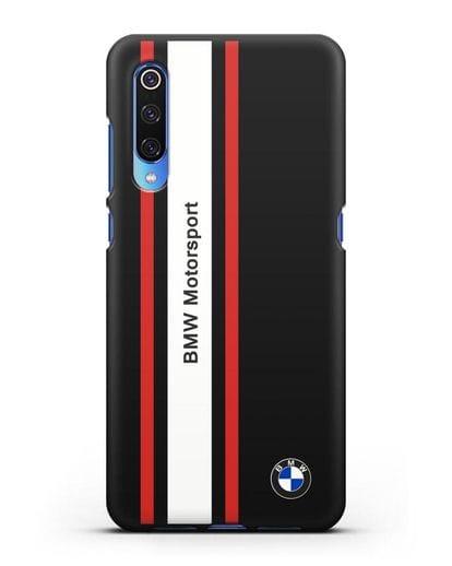 Чехол BMW Motorsport силикон черный для Xiaomi Mi 9