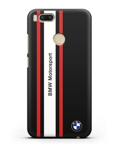 Чехол BMW Motorsport силикон черный для Xiaomi Mi A1